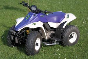 Kinderquad Suzuki LT 80 lila-weiß